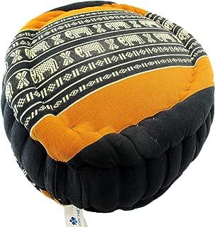 Zafu Kapok Meditation Cushion, Round Seat Sitting Pillow, Extra Firm Yoga Bolster, Thai All Natural Fiber Filling