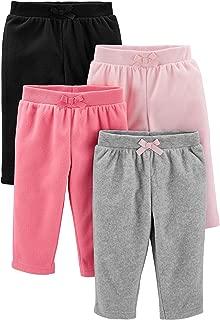 Baby Girls' 4-Pack Fleece Pants