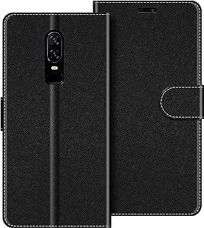 COODIO Funda OnePlus 6 con Tapa, Funda Movil OnePlus 6, Funda Libro OnePlus 6 Carcasa Magnético Funda para OnePlus 6, Negro