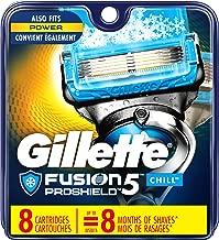 Gillette Fusion ProShield Chill Men's Razor Blade Refills, 8 Count Refills, Mens Razors / Blades