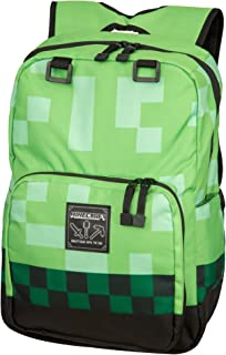 JINX Minecraft Creeper Kids School Backpack, Green, 18