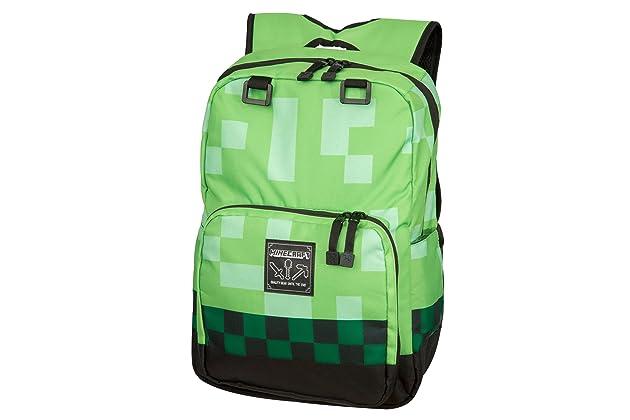 JINX Minecraft Creeper Kids Backpack (Green aa6a0026941eb