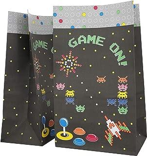 Blue Panda Video Game Retro Arcade Party Favor Goody Treat Bags (36 Pack)