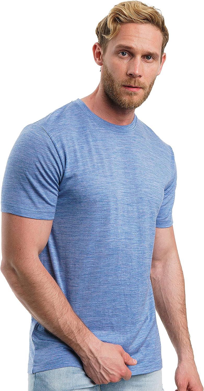 Merino.tech Merino Wool Finally resale start Max 53% OFF T-Shirt Organic 100% - Mens