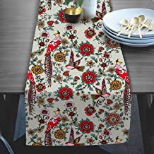 RADANYA Floral Table Runner Taffeta Silk Coffee Dining Table Cloth Runners for Home Kitchen Party Decorations 14x72 Inches