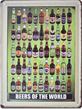H&K Beers of The World Retro Metal Tin Sign Posters Wall Decor 12X16-Inch
