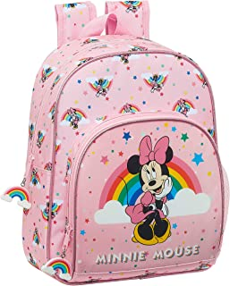 Mochila Infantil de Minnie Mouse Rainbow, 280x100x340mm