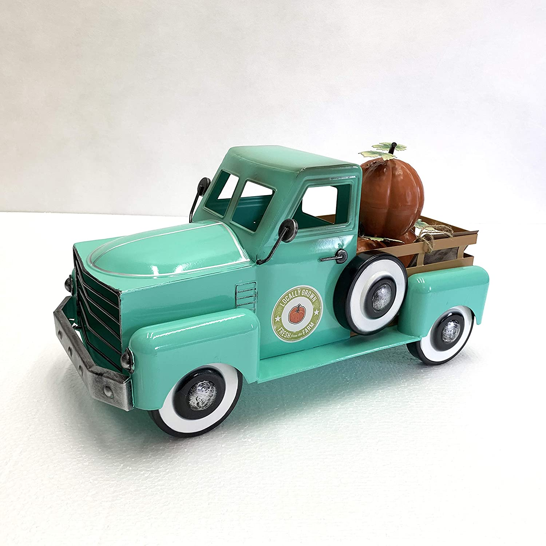 Metal Autumn Harvest Truck Reservation with outlet Teal Pumpkins Removable