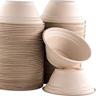 Restaurant-Grade, Biodegradable 8 Oz Bowls Bulk 200Pk. Great for Ice Cream, Chili or..