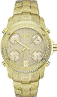JBW Luxury Men's Jet Setter 234 Diamonds Five Time Zone Swiss Movements Watch - JB-6213-A
