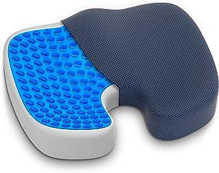 GRASSVERY Gel Pressure Relief Enhanced Office Chair Seat Cushion – Memory Foam..