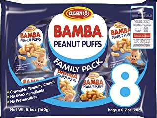 Osem Bamba Peanut Snacks for Babies – All Natural Baby Peanut Puffs Family Pack..