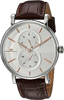 Oceanaut Men's Lexington Stainless Steel Quartz Watch with Leather Strap, Brown, 20 (Model: OC0340)