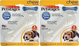 Petstages (2 Pack) Newhide Safe Replacement for Rawhide Dog Chew, Durable Safe Dog Toy (Small)