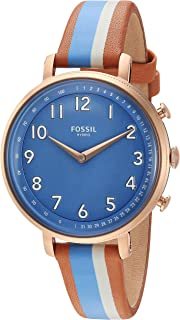 Fossil Women's Stainless Steel Hybrid Watch with Leather Strap, Multi, 14 (Model: FTW5050)