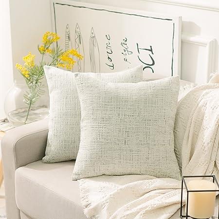 Chenille Decorative Pillow  18x18 Pillow Cover Duralee Light Gray Zebra Stripe Pillow Cover Throw Pillow- Accent Pillow.