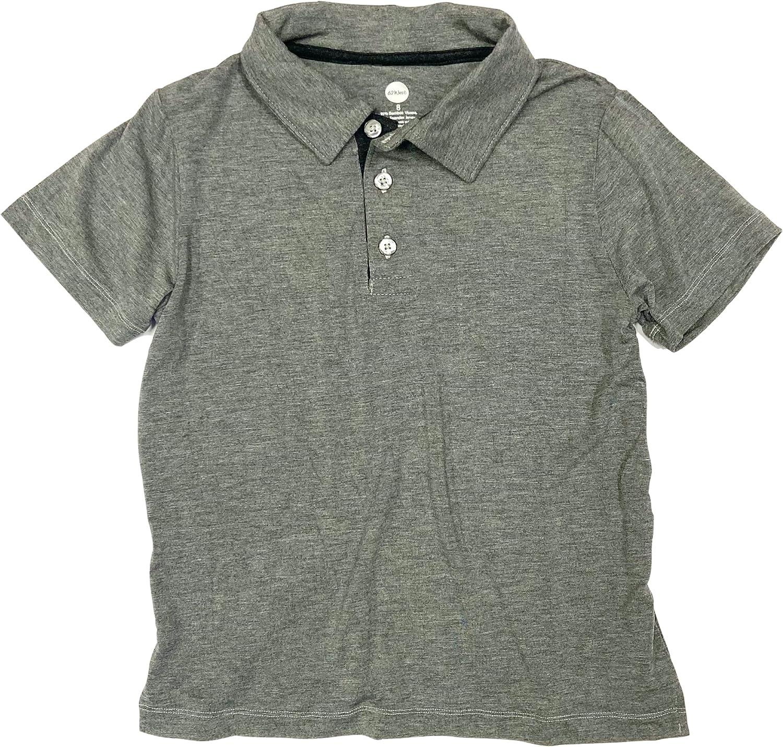 Boys Heather Grey Bamboo Polo Shirt Size 6