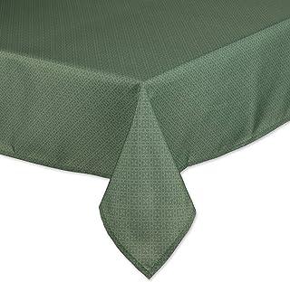DII Outdoor Tabletop Collection Tonal Lattice, Tablecloth, 60x84, Artichoke