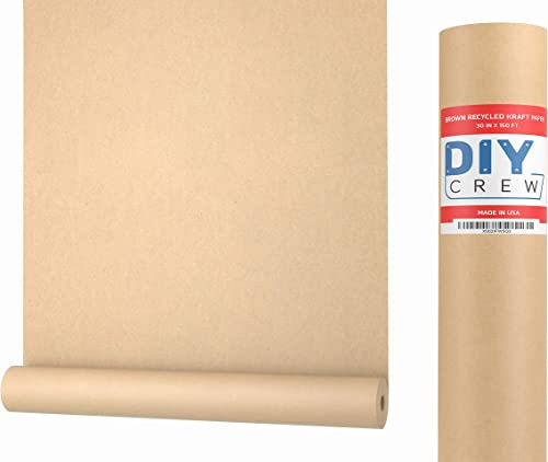 Kraft Paper Roll 30'' X 1800'' (150ft) Brown Mega Roll - Made in Usa 100% Natural Recycled Material - Perfect for Pac...