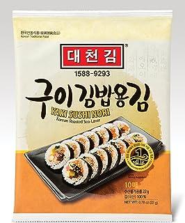comprar comparacion DAECHUN LAVER Sushi Nori, Tostado de mar (10 hojas completas) Grado de plata bolsa de 22g