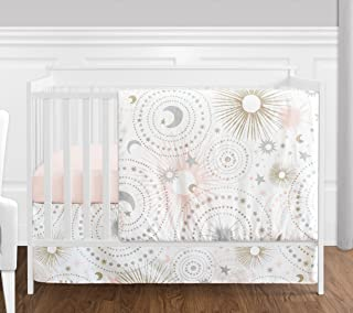 blush and gold nursery bedding