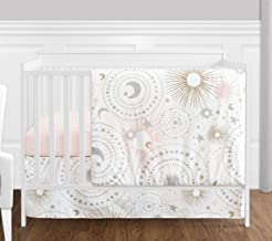4 pc. Blush Pink, Gold, Grey and White Star and Moon Celestial Baby Girl Crib Bedding Set by Sweet Jojo Designs