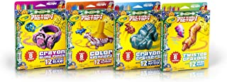 Crayola Melt 'n Mold Factory Expansion Packs: Glitter Glam Crayon Bling Rings, Twisted Rainbow Color Spinnerz, Metallic Mayhem Crayon Cruisers & Neon Blast Twisted Crayons Create Your Own Crayons
