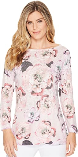Long Sleeve Pink Floral Top