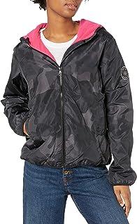 Madden Girl Women's Fashion Outerwear Jacket, neon black Camo, L