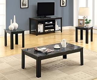 Amazoncom Black Living Room Table Sets Tables Home Kitchen