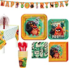 Party City Angry Birds Tableware Kit for 8 Guests Includes Plates, Napkins, Cutlery, Table Cover, and Decorations