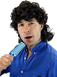 80er Jahre Assi Prollo Prolet Perücke Stirnband mit Haaren Vokuhila Mantafahrer