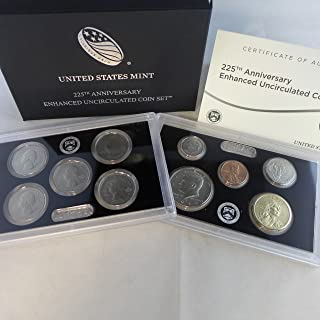 2017 us mint 225th anniversary enhanced uncirculated coin set
