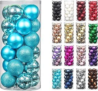 24pcs 2.36in Christmas Decoration Balls Shatterproof Color Set Ornaments Balls for Festival Wedding Home Party Decors Xmas...