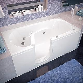 Spa World Venzi Vz3060silwh Rectangular Whirlpool Walk-In Bathtub, 30x60, Left Drain, White