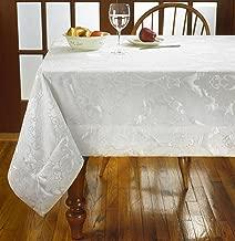 Violet Linen VL-80613-Concord-WH-4C Damask Design Tablecloths, 60