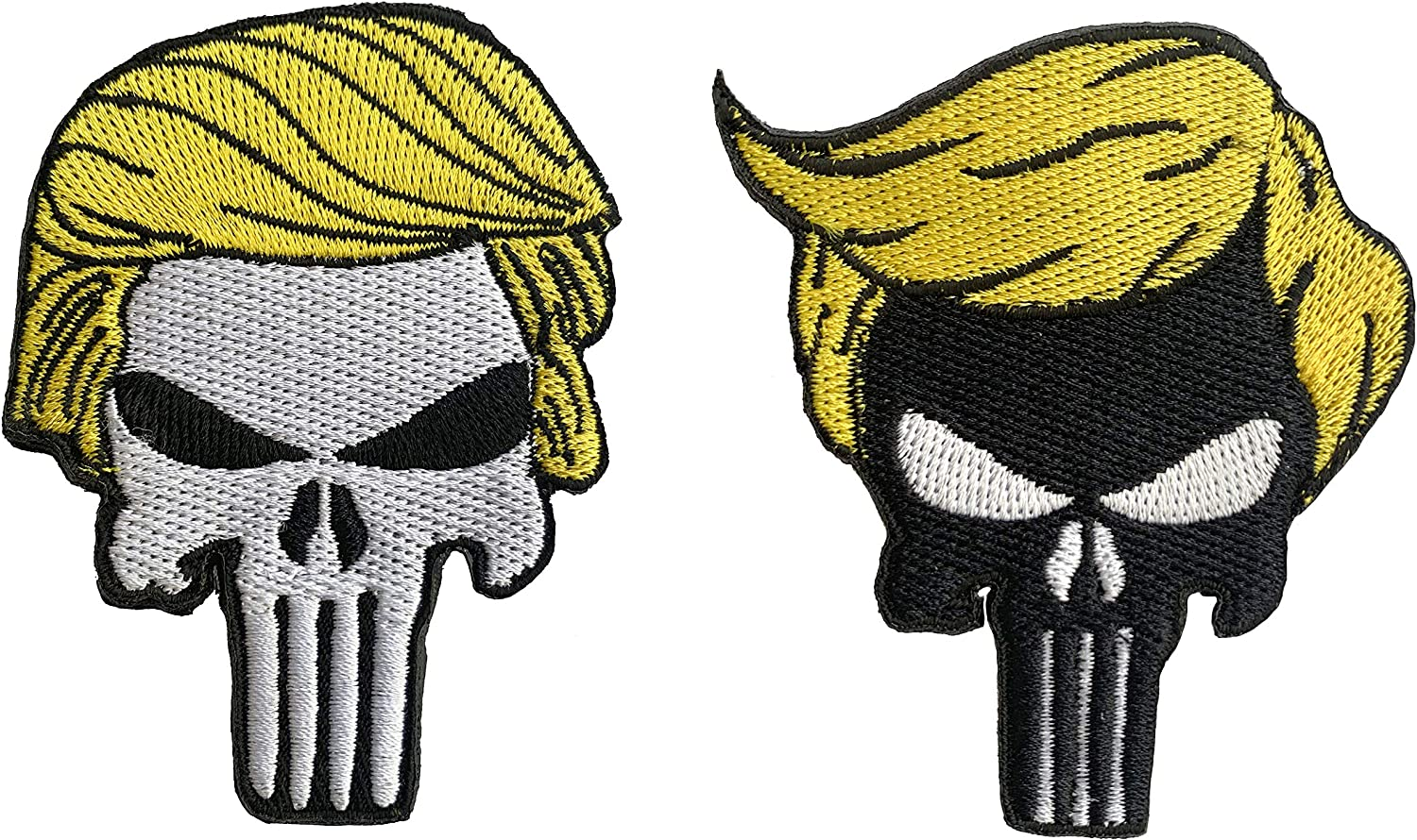 Trump Skull Patch Sew or Iron Pres Donald on Patches 2021 new OFFicial