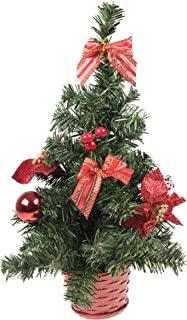 Clever Creations Mini Artificial Christmas Tree with Red Bows Best Choice Christmas Decoration for Table and Desk Tops | Small 16
