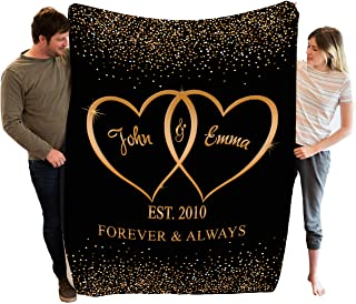 Stylish Gears Personalized Blankets for The Closest One to Your Heart Custom Blanket Couple, Custom Couple Gifts (Size- 60...
