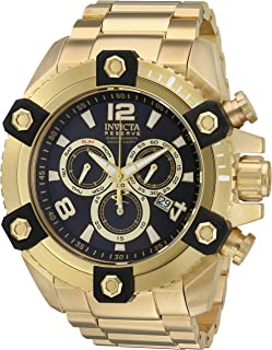 Invicta Men's Reserve Octane 56mm Gold Tone Stainless Steel Chronograph Quartz Watch, Gold (Model: 15827)
