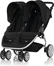 Britax B-Agile Doble - Silla de paseo gemelar, color Cosmos Black