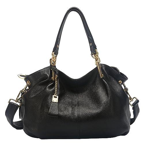28e011117c7b Obosoyo Women s Handbag Genuine Leather Tote Shoulder Bags Soft Hot