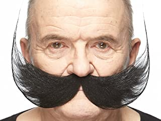 Fake Mustache, Self Adhesive, Novelty, Fisherman's False Facial Hair, Costume Accessory for Adults