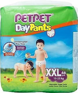 PetPet Daypants Mega Pack, XXL (15-25kg), Carton, 48ct (Pack of 3)