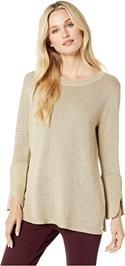 Lurex Bell Sleeve Sweater