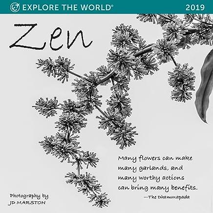 Zen Wall Calendar 2019 Monthly January-December 12