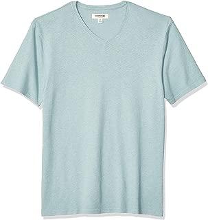 Men's Linen Cotton V-Neck T-Shirt