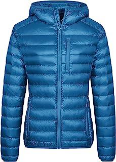 Wantdo Women's Lightweight Packable Down Jacket Hooded Insulated Puffer Coat