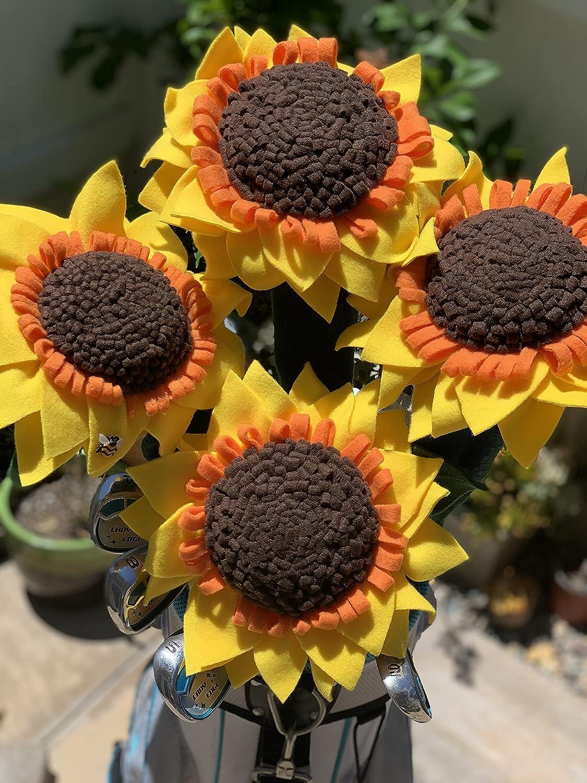 Sunflower Golf Club Cover broad petal Driver free B 5 ☆ very popular Stem - Green