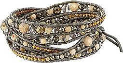 Chan Luu - Multi Brioche Agate Mix Wrap Bracelet